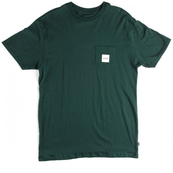 HUF Box Logo Pocket T-Shirt - Forest Green