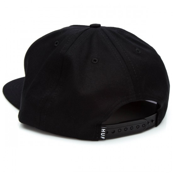 HUF Box Logo Snapback Hat - Black