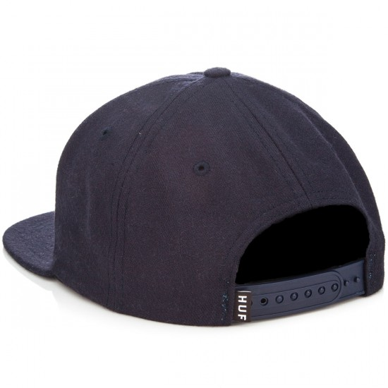HUF Box Logo Snapback Hat - Navy