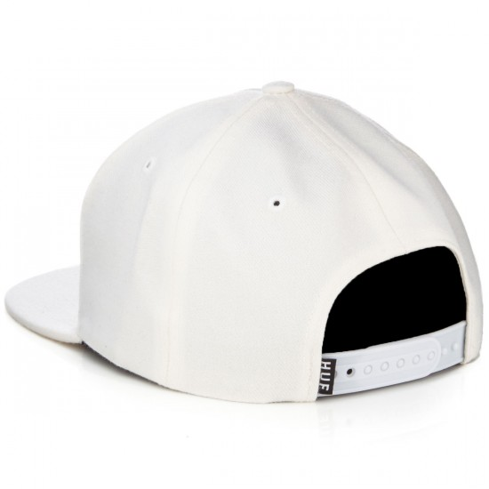 HUF Box Logo Snapback Hat - White