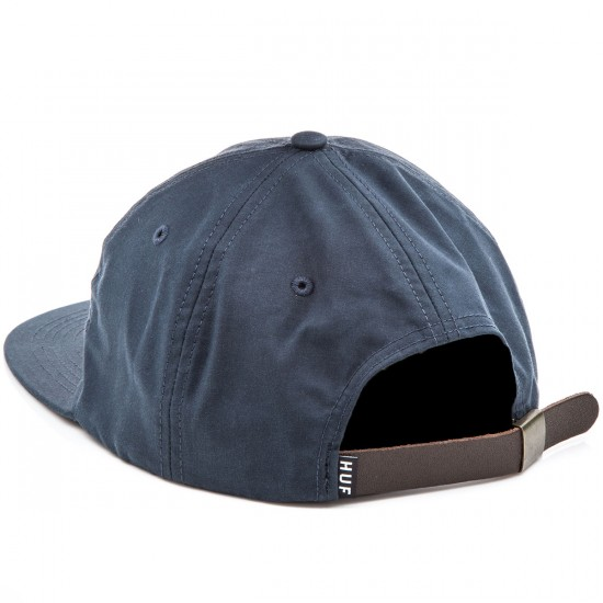 HUF British Millerain 6 Panel Hat - Navy