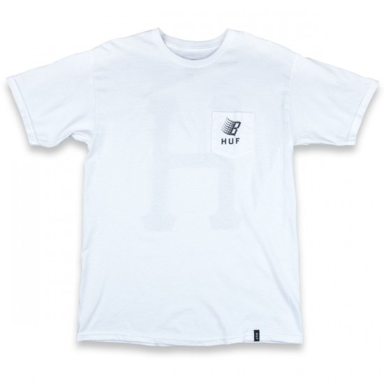 HUF X Bronze Core Reflective Pocket T-Shirt - White