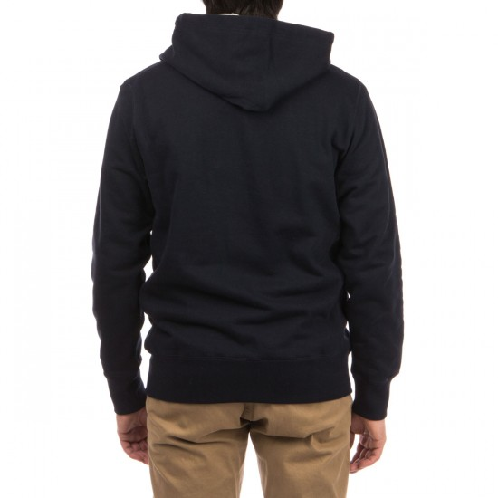 HUF Brooks Thermal Zip Up Hoodie - Navy