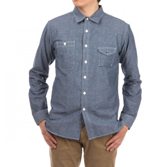 HUF Cigarette Pocket Chambray Shirt - Blue