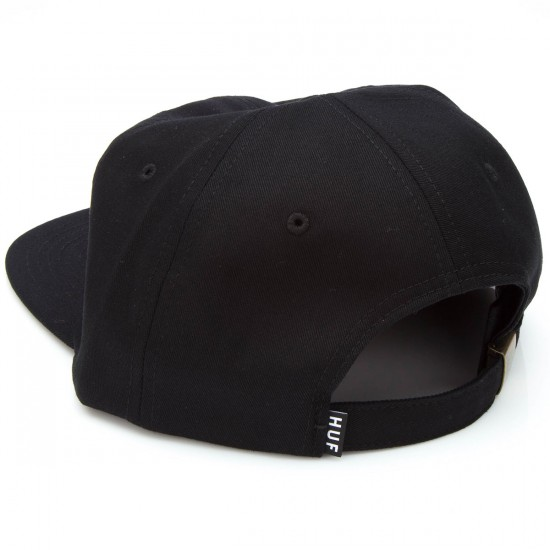 HUF Classic H 6 Panel Hat - Black/Black