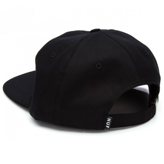 HUF Classic H 6 Panel Hat - Black/White