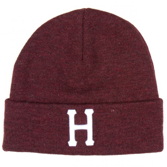 HUF Classic H Beanie Beanie - Wine Heather