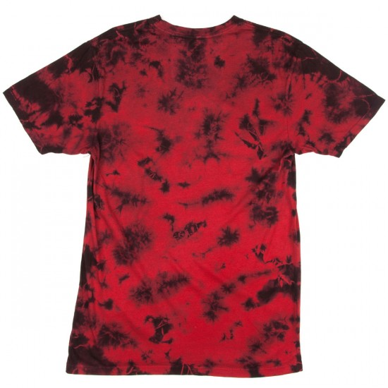 HUF Crystal Wash Script T-Shirt - Red