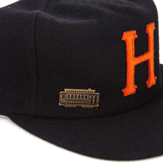 HUF Home Field Wool Snapback Hat - Black