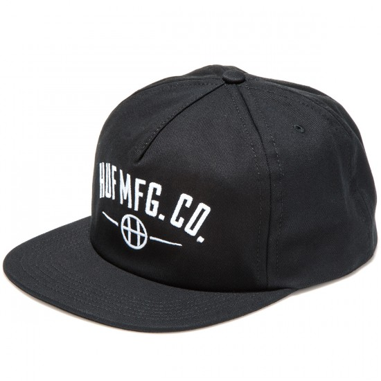 HUF MFG Station Snapback Hat - Black