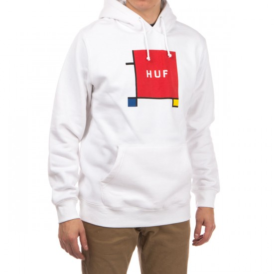 HUF Primary Box Logo Pullover Hoodie - White
