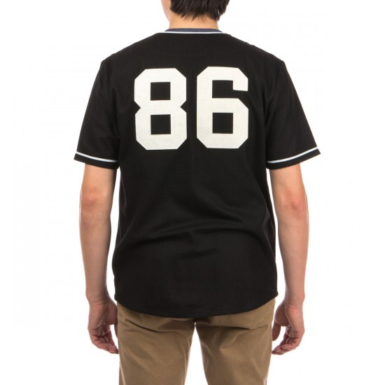 HUF Swing Kings Baseball Jersey Shirt - Black