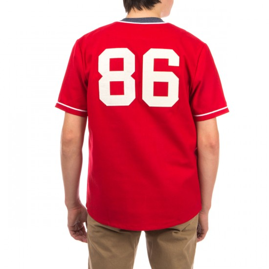 HUF Swing Kings Baseball Jersey Shirt - Red