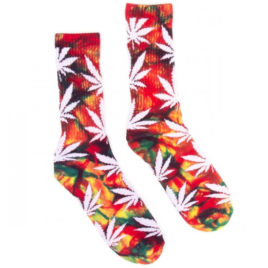 HUF Tie Dye Plantlife Crew Socks - Multi Color