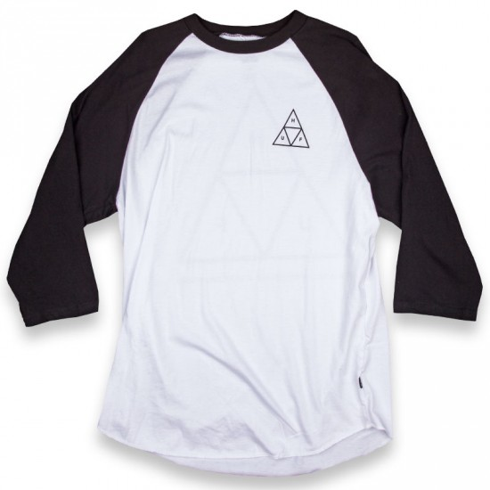 HUF Triple Triangle Long Sleeve Raglan T-Shirt - Black