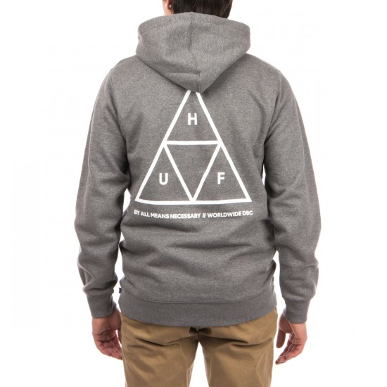 HUF Triple Triangle Pullover Hoodie - Grey Heather