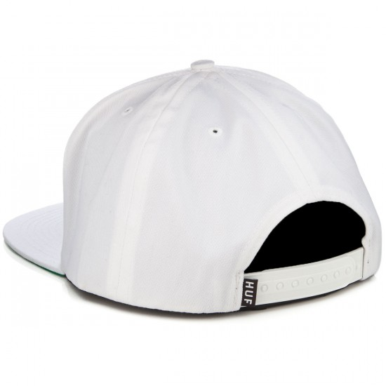HUF X High Times Embroidered Snapback Hat - White