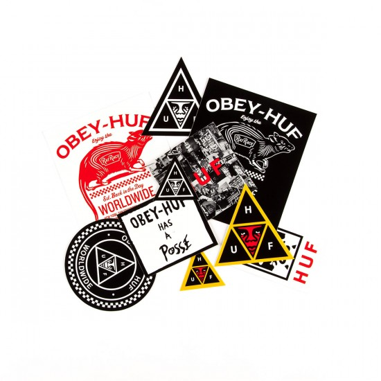 HUF X Obey Sticker Pack  - Assorted