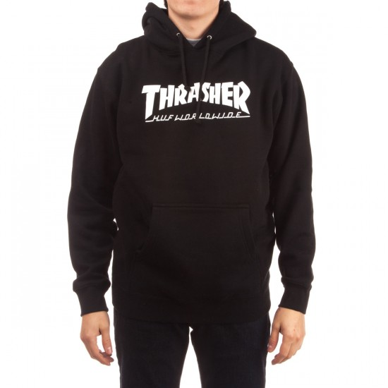 HUF X Thrasher Classic H Pullover Hoodie - Black