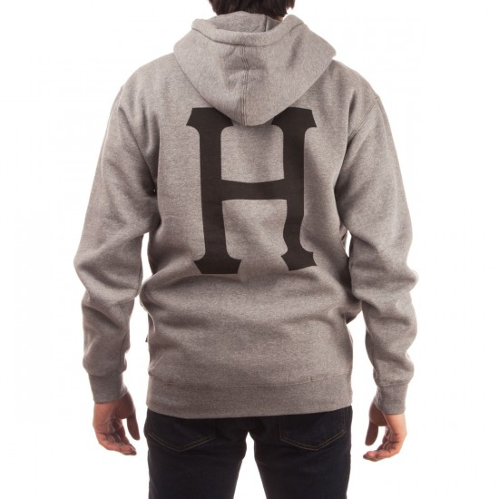 HUF X Thrasher Classic H Pullover Hoodie - Grey Heather