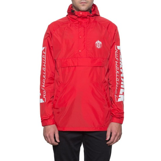 HUF X Thrasher Tour de Stoops Anorak Jacket - Red