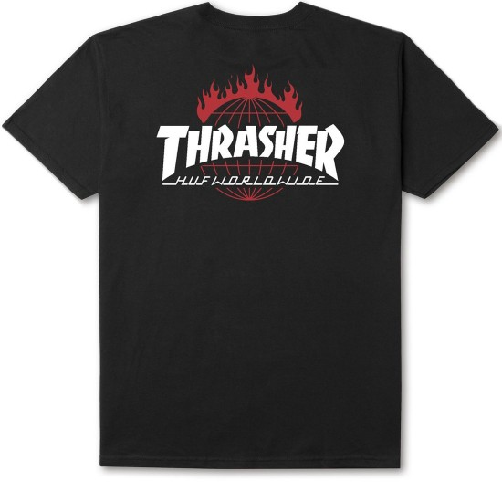 HUF X Thrasher Tour de Stoops T-Shirt - Black