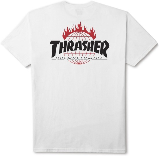 HUF X Thrasher Tour de Stoops T-Shirt - White