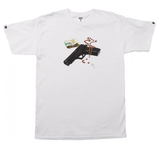 Crooks and Castles God Guns Money T-Shirt - White