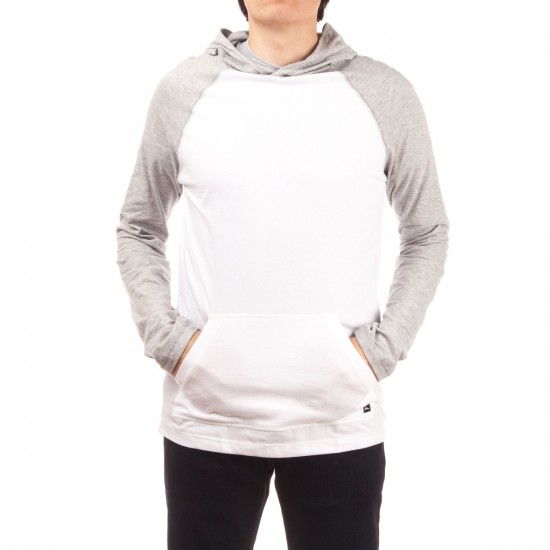 Imperial Motion All Day Light Weight Hoodie - White/Grey Heather