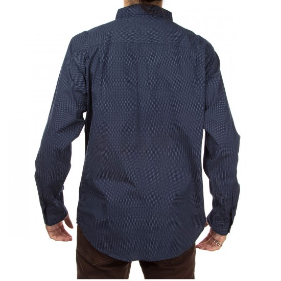 Imperial Motion Bart Long Sleeve Woven Shirt - Navy
