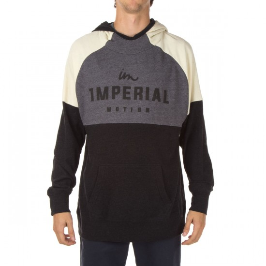 Imperial Motion Chisel Pullover Hoodie - Charcoal/Grey/Natural
