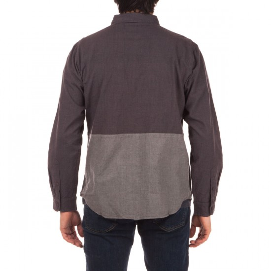 Imperial Motion Hodge Long Sleeve Workshirt Shirt - Charcoal