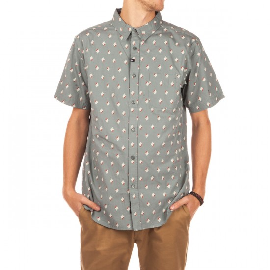 Imperial Motion Percy Short Sleeve Woven Shirt - Oil Blue