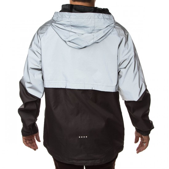 Imperial Motion Theory Reflective Zip Jacket - Reflective Silver