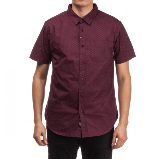 Imperial Motion Vega Short Sleeve Woven Shirt - Burgundy