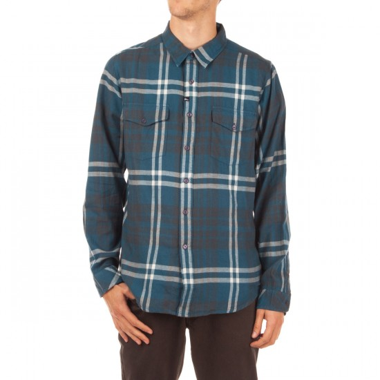 Imperial Motion Wayward Long Sleeve Flannel Shirt - Oil Blue