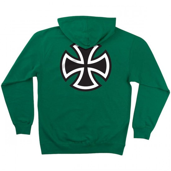 Independent Bar/Cross Pullover Hooded Sweatshirt - Kelly Green