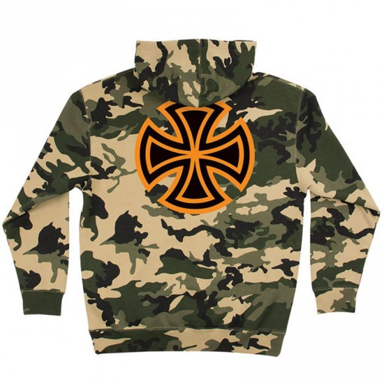 Independent Bar Cross Pullover Hoodie - Camo
