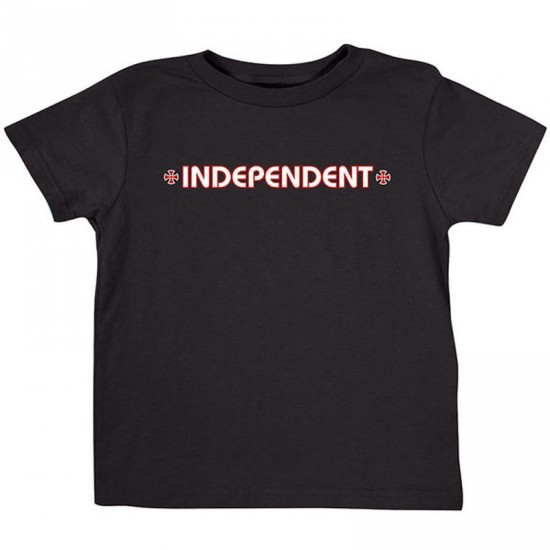 Independent Bar/Cross Toddler T-Shirt - Black