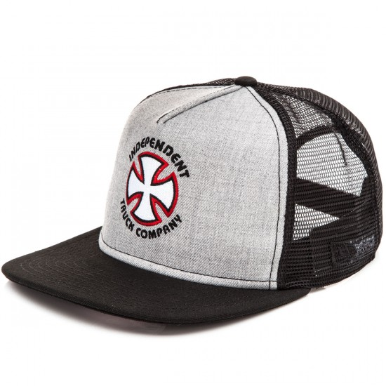 Independent Bauhaus Cross New Era Trucker 9 Fifty Hat - Heather Grey/Black