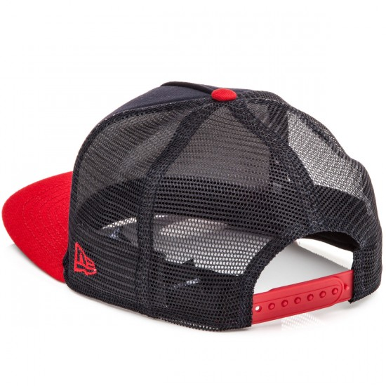 Independent Bauhaus Cross New Era Trucker 9 Fifty Hat - Navy/Cardinal