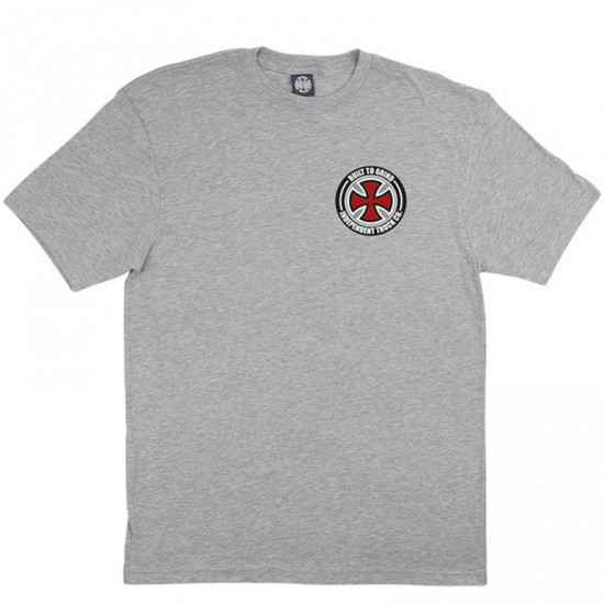 Independent BTG Cross T-Shirt - Heather Grey