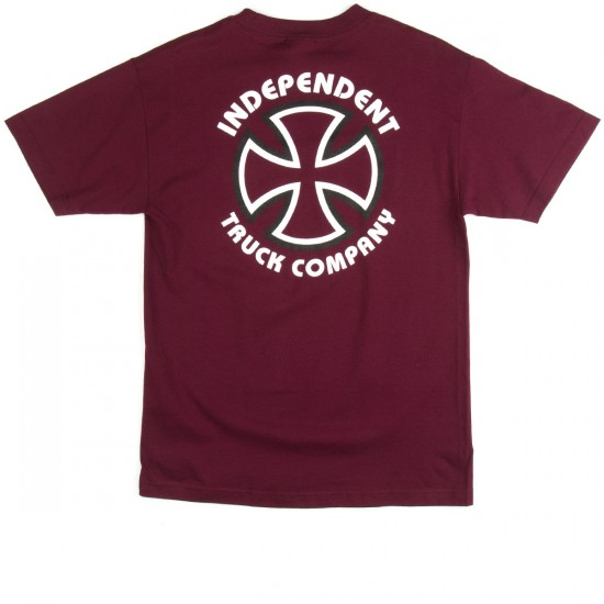Independent Classic Bauhaus T-Shirt - Burgundy