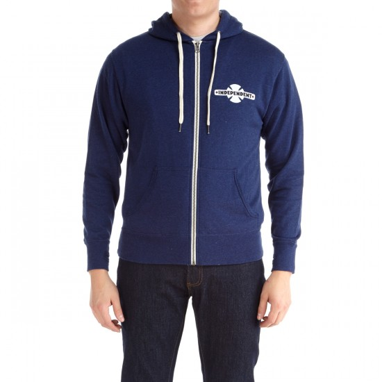 Independent Familiar Zip Hoodie - Navy Heather