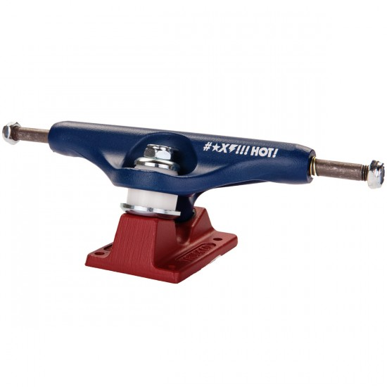 Independent Grant Taylor BTG GC Hollow Skateboard Trucks - Blue/Red