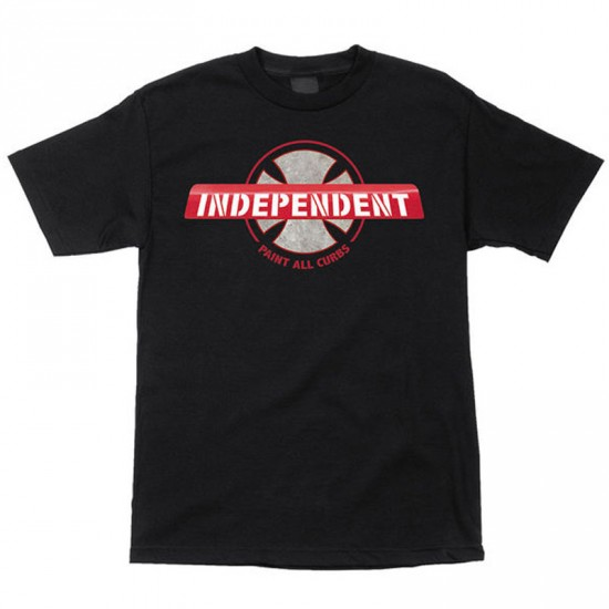 Independent Paint All Curbs T-Shirt - Black