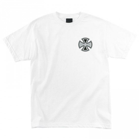 Independent Reflective Cross T-Shirt - White