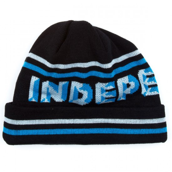 Independent Sign Beanie - Black/Blue