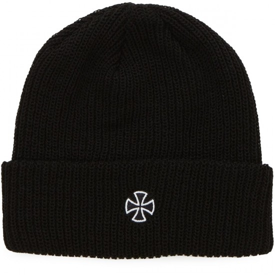 Independent Skateboard Trucks Cross Ribbed Beanie - Black