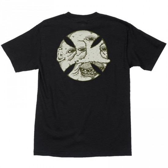 Independent Stearns Cross Face T-Shirt - Black